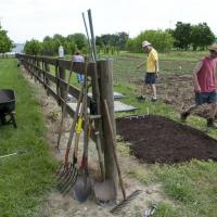 Preparing for student farm storage shed