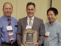John Finer (middle) receives Lifetime Achievement Award